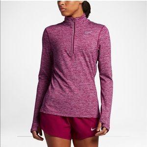 Nike running pink drifit 3/4 zip up